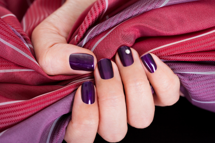 Beautiful purple female nails